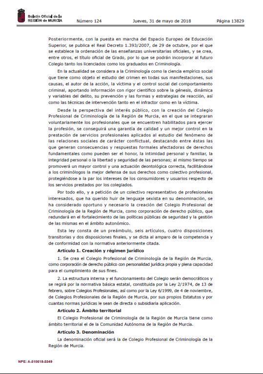 asociacion_criminologia_sociedad_cys_5_2018_ley_creacion_colegio_profesional_criminologia_region_murcia (2)