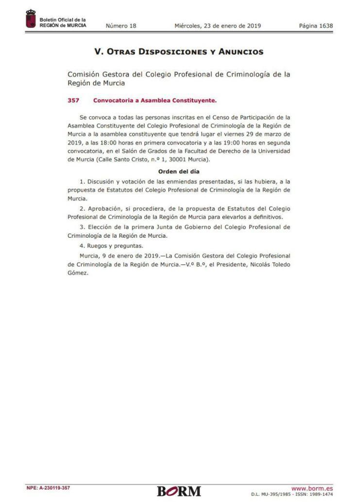 ntoledog_convocatoria_asamblea_constituyente_colegio_profesional_criminologia_region_murcia